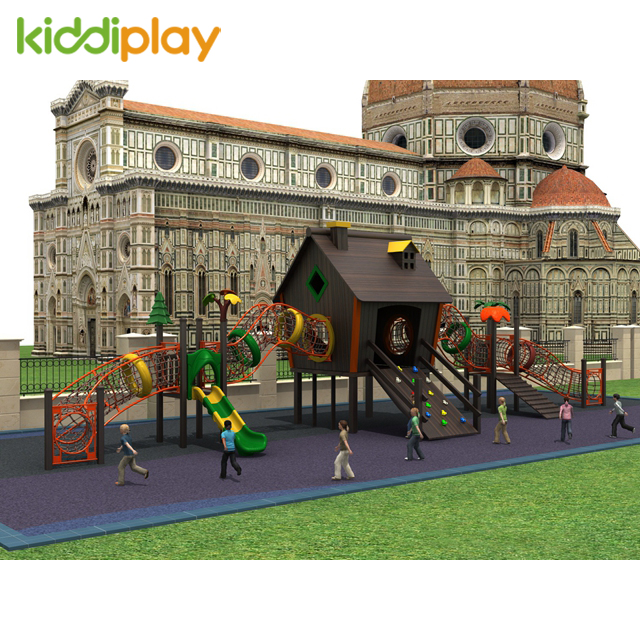 Wooden House Children Playground Equipment Outdoor Playground for Sale