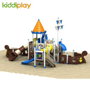 Safe Plastic School Outdoor Slide Pirate Ship Series Playground Equipment