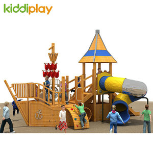 Lovely Outdoor Children Playground Wooden Slide Series Facilities