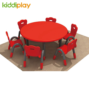 High Quality Colorful Kids Plastic Round Table