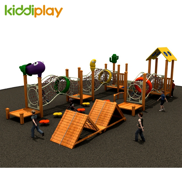 2018 Popular Kids Commercial Fun Gym Wooden Series Outdoor Playground