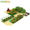 Large Indoor Children Playground Equipment with Trampoline And Rainbow Net