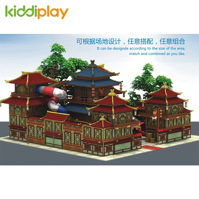 Indoor Playground Ancient Architecture Kids Soft Play Games