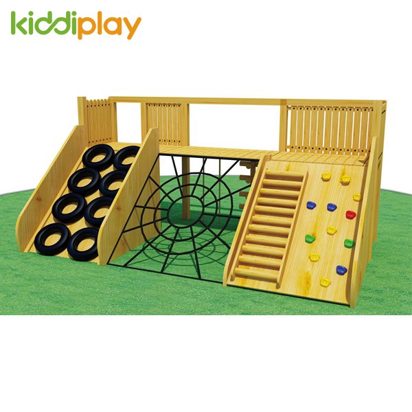 High Quality Outdoor Playground Wooden Slide Series for Children