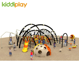 Spider Man Theme Kids Outdoor Playground Climbing Equipment