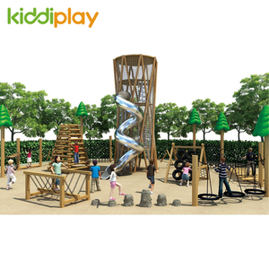 Large Outdoor Wooden Series Park Playground for Kids