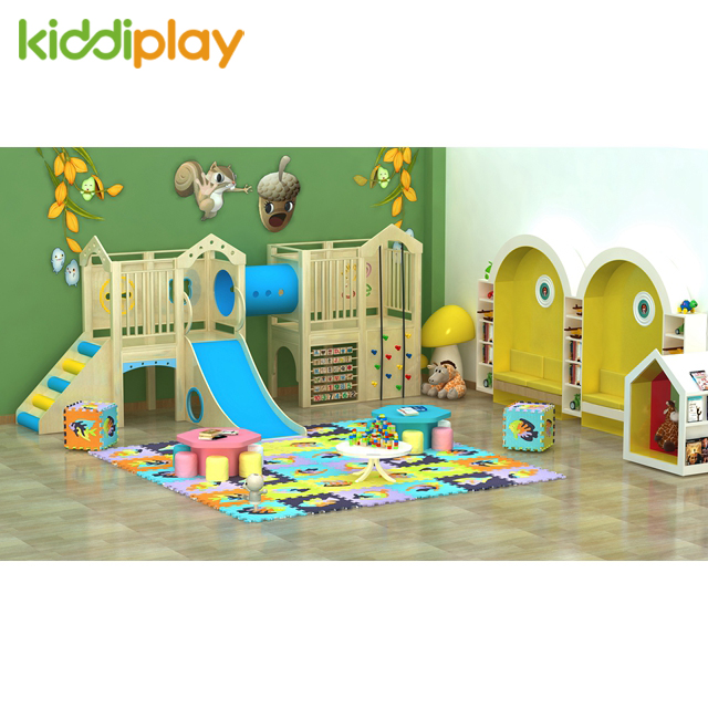 2018 Indoor Playground Slide Wooden Toys Educational Kids