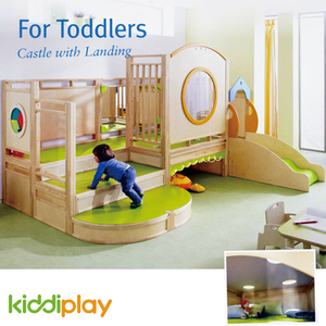Wooden Soft Play Kids Indoor Tunnel Playground Equipment