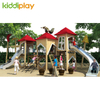Good Quality Outdoor Children's Slide Wooden Series House Playground Equipment