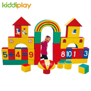Soft Color Foam Toy Indoor Building Blocks for Kids Education Toddler Playground