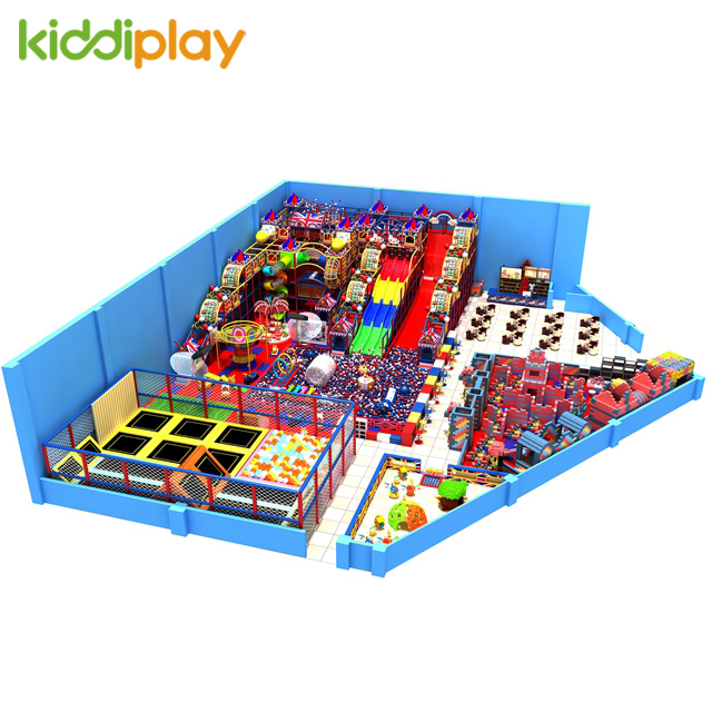 Kids Indoor Playground with Trampoline