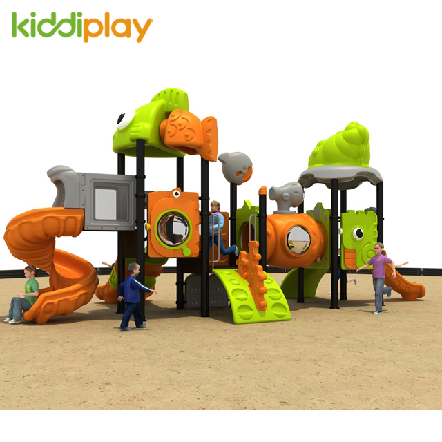 Used Children Park Plastic Slide Outdoor Playground Equipment for Sale