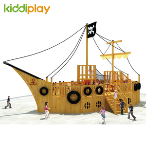 Wooden Pirate Ship Playground Equipment for Children