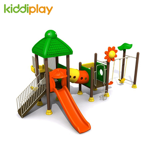2018 high quality safety plastic slide outdoor amusement playground equipment