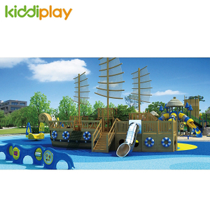 2018 New Children Playground Wooden Series Outdoor Fun City For Amusement Park