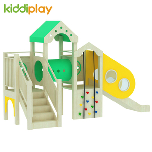 China Indoor Kids Wood Material Wooden Slide Play Ground