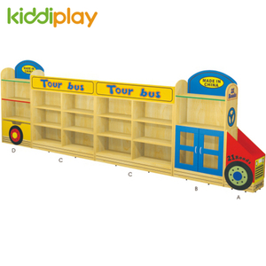 Tour Bus Design Wooden Toy Storage Cabinet