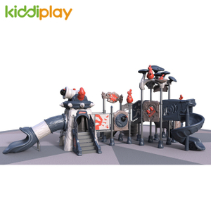 2018 Plastic Children Slide Playground Equipment