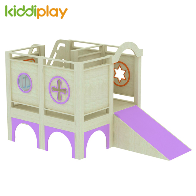 Wood Play House Indoor Soft Playground Toys Equipment for Kids