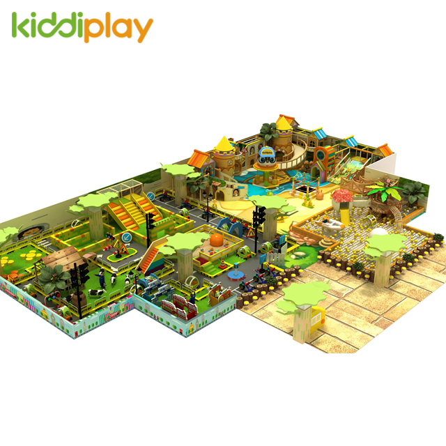 Kids Indoor Playground with Cartoon Town