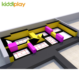 New Design Indoor Parkour Trampoline Park for Kids