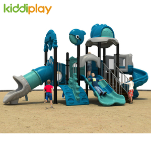 Children Kindergarten Playground Plastic Outdoor Slide Ocean Series
