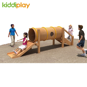China Products Nontoxic Kids Wooden Slide Series Outdoor Playground