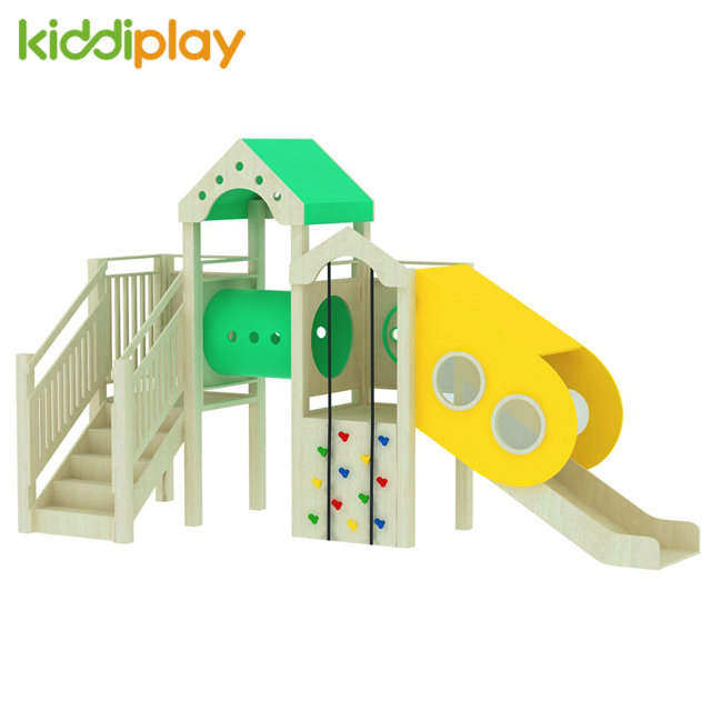China Factory Made Wood Material Kids Wooden Play Ground