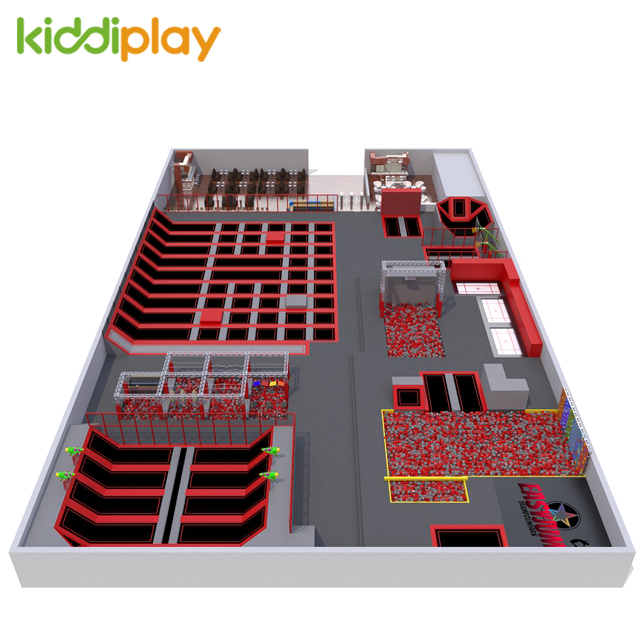 Cheap Funny KiddiPlay Indoor Gymnastic Professional Big Trampoline Park