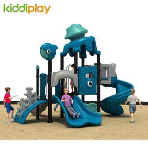 Commercial Amusement Plastic Parts Spiral Slide Indoor Playground for Kids