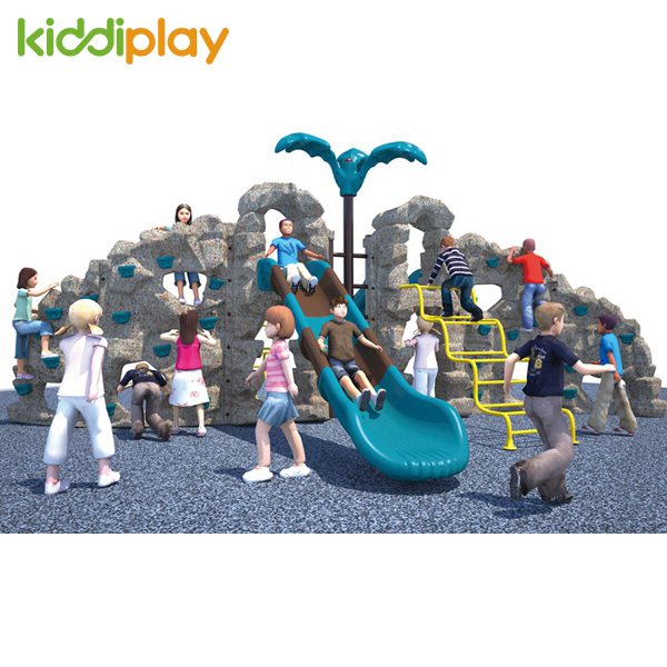 Kids Play Slide Outdoor Combined Climbing Wall