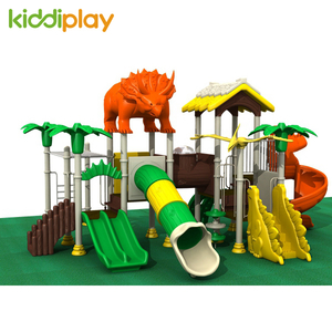 Top Sale Outdoor Kids Plastic Playground Equipment Wholesale Dinosaur Series