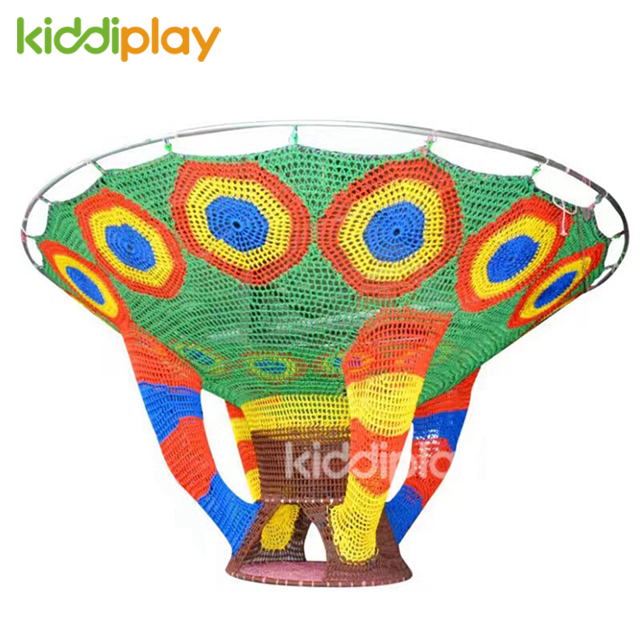 Kids Indoor Playground Crocheted Rainbow Colorful Climbing Net Equipment