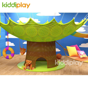 Kids Indoor Playground Crocheted Rainbow Colorful Climbing Net Playground Equipment
