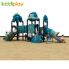 Children Ocean Series Outdoor Playground Equipment Play House With Plastic Slide