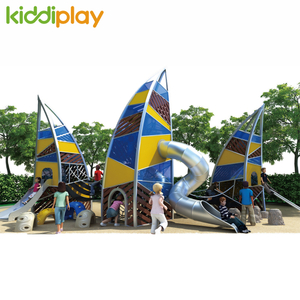 Hot Large Children Happy Outdoor Wooden Climbing House Playground