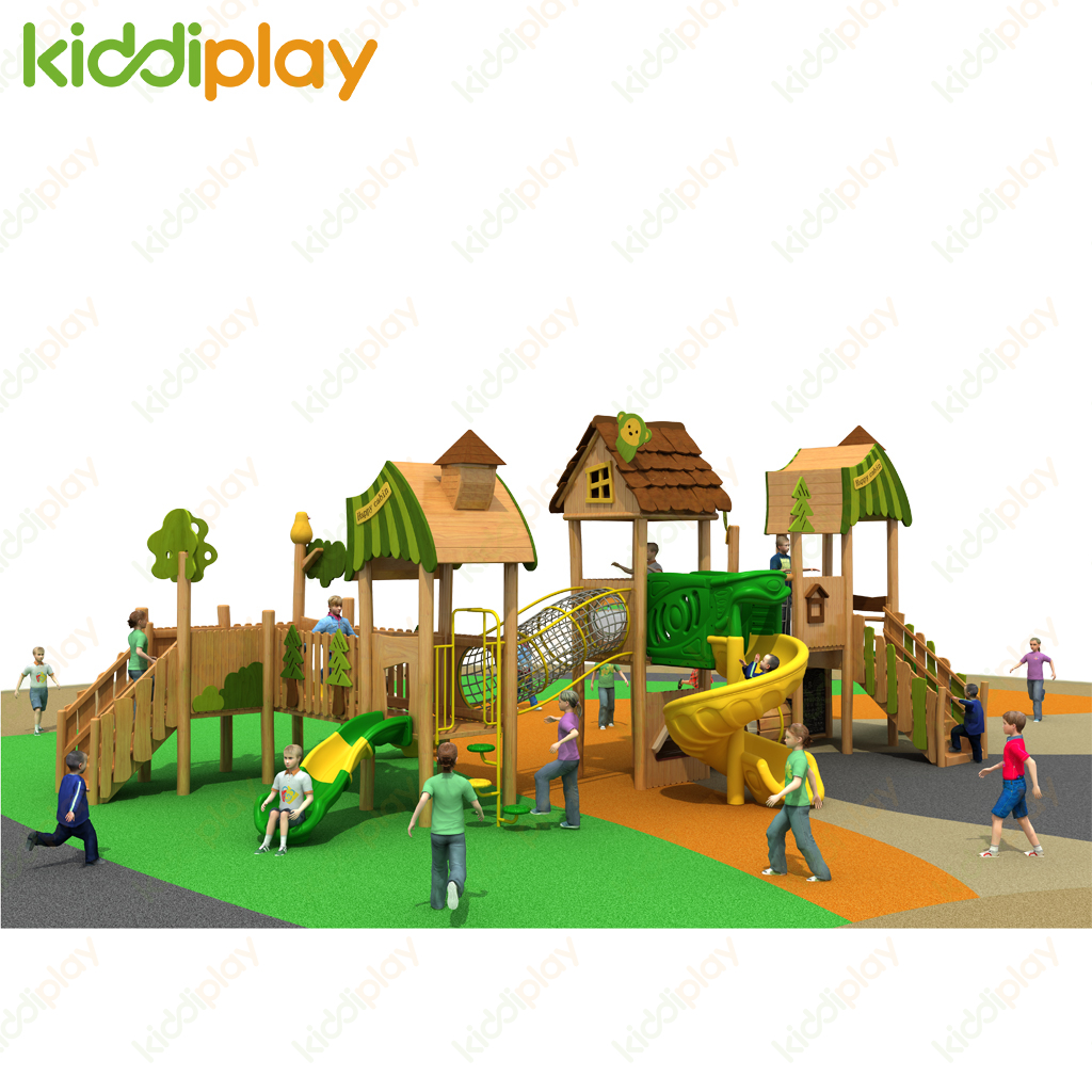 Kindergarten Kids Playground Playground Outdoor Equipment Wooden Playground for Sale