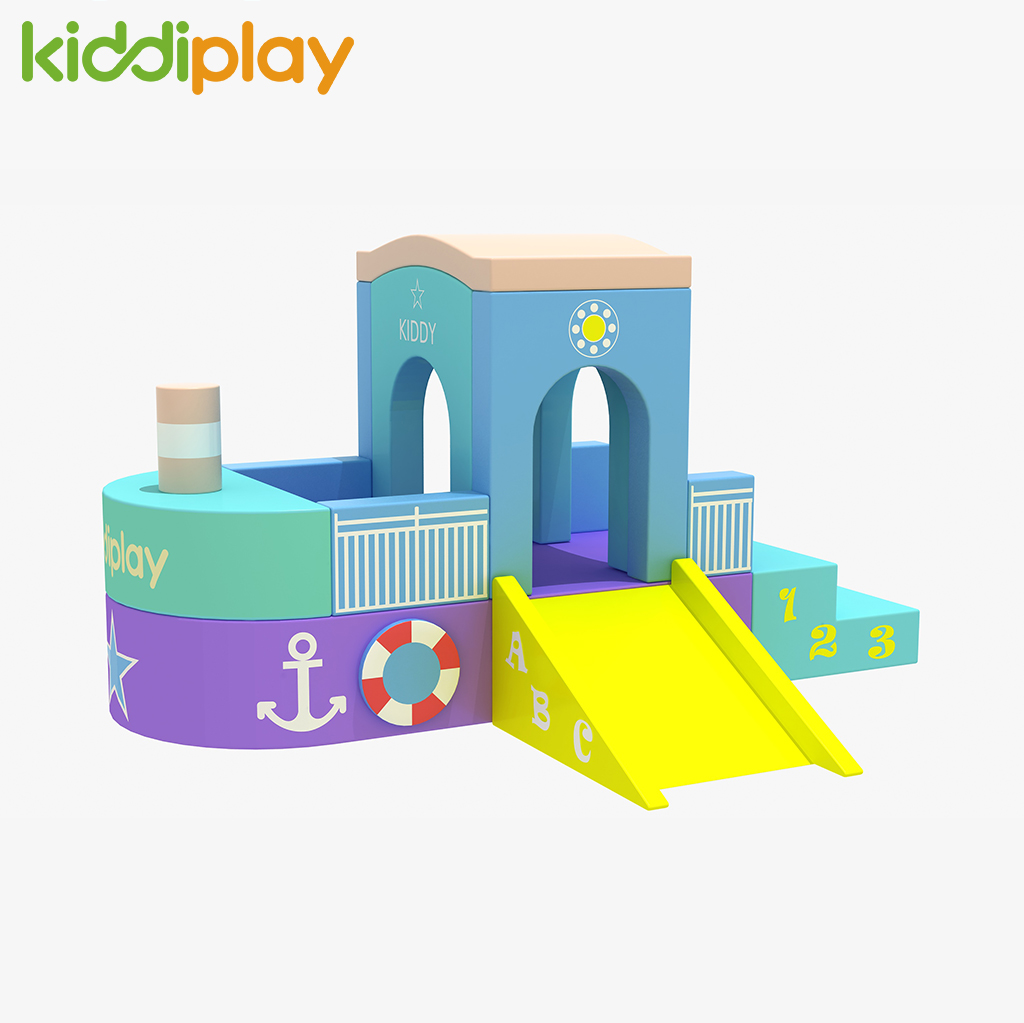 Hot Selling Ship Theme Kindergarten Soft Playground for Toddler