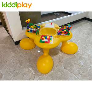 Eco-friendly Kids Indoor Playground Lego Bricks Desk Block Table