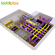 High Quality Custom Color Indoor Playground Commercial Play Zone Amusement Trampoline Park