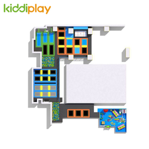 KD11060B HOT popular kids indoor playground trampoline park center