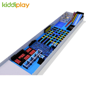 KD11057A Popular Play Center Indoor Playgeound And Trampoline Park with Building Blocks Center