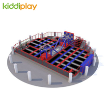 KD11046A Zip Line Ninja Course Slam Dunk Area Foam Pit Spider Tower Climbing Wall Jumping Trampoline Park Center