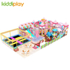 Factory Customized Unified Design Best Price Kid Pink Rectangle Trampolines Park with Safety Net