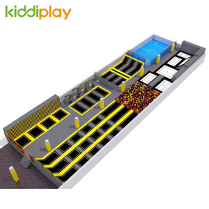 KD11070A Rectangle Indoor Playground Popular Large Trampoline Park