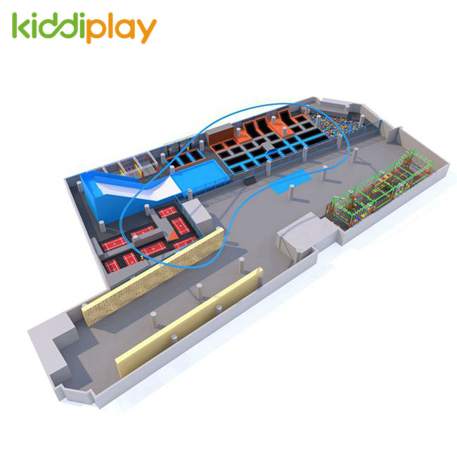 KD11073A Immersive in Challenge And Adventure Popular Design Trampoline Park