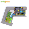 KD11052C Ninja Course Parkour Climbing Wall Spider Tower Beam Battle Professional And Free Jump Center Children Big Indoor Trampoline Park
