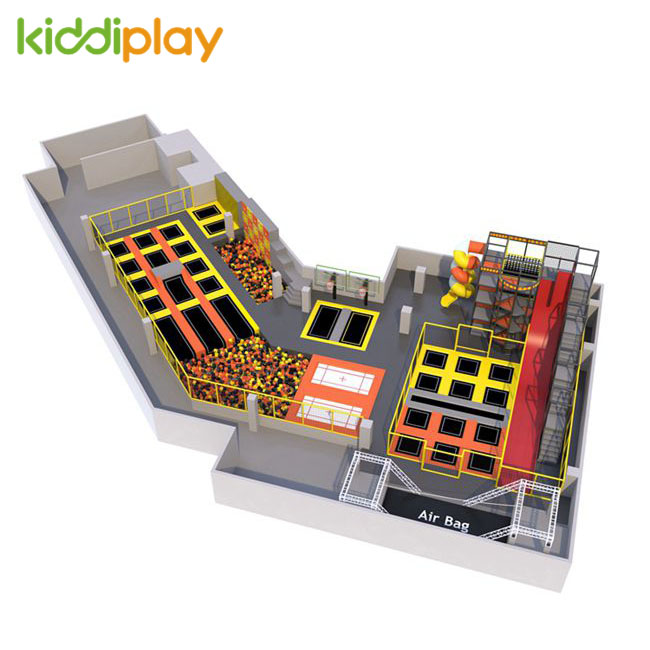 KD11072A Popular Design Foam Pit Spider Tower Trampoline Park