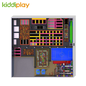 KD11071B Classic And Trends Combination Rainbow Net Indoor Playground Popular Large Trampoline Park