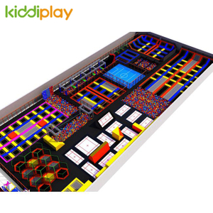 Latest Design Indoor Kids Adult Play Game Gymnastic Basketball Ground Trampoline Park